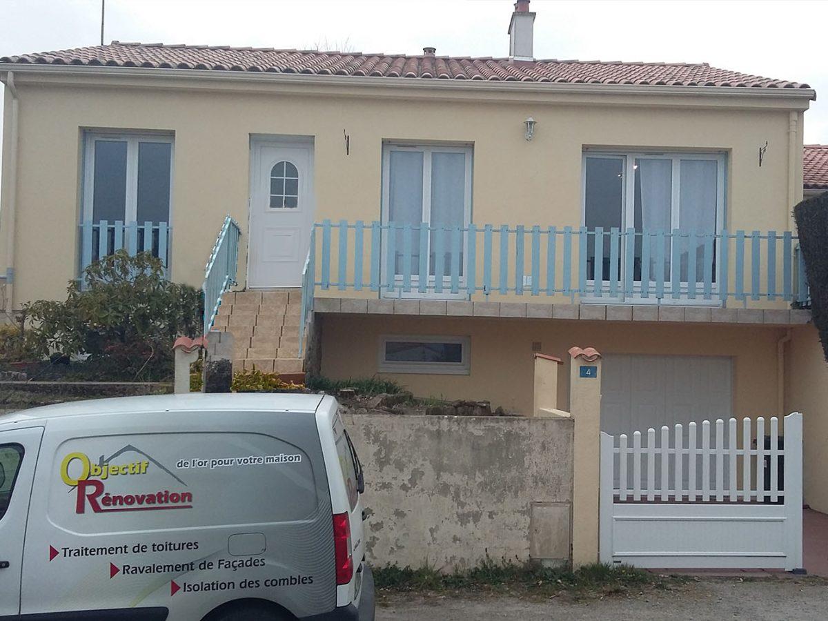 Couleur Façade Maison Ancienne peinture de façade en vendée 85 - objectif rénovation
